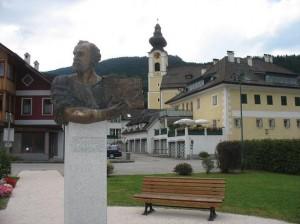Statuia lui Gustav Klimt, Unterach am Attersee