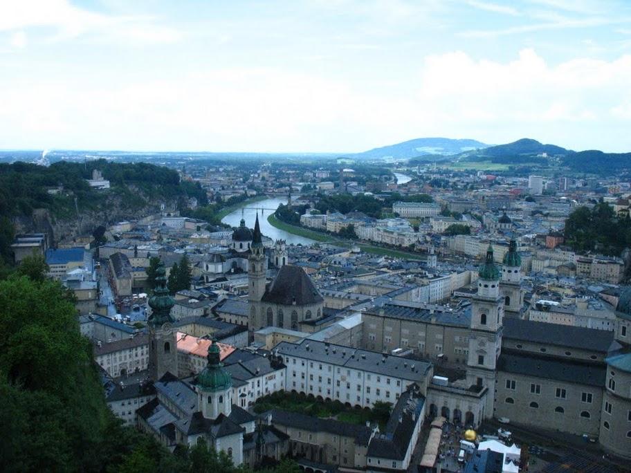 Salzburg, vazut din Hohensalzburg